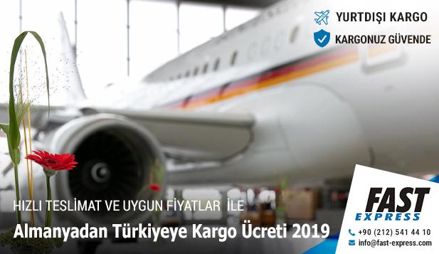 Almanyadan Türkiyeye Kargo Ücreti 2019