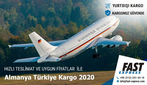Almanya Türkiye Kargo 2020