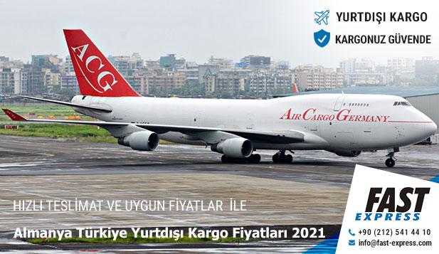 Almanya Türkiye Yurtdışı Kargo Fiyatları 2021