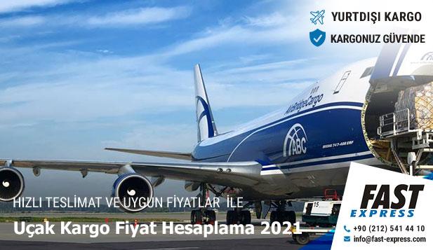 Uçak Kargo Fiyat Hesaplama 2021
